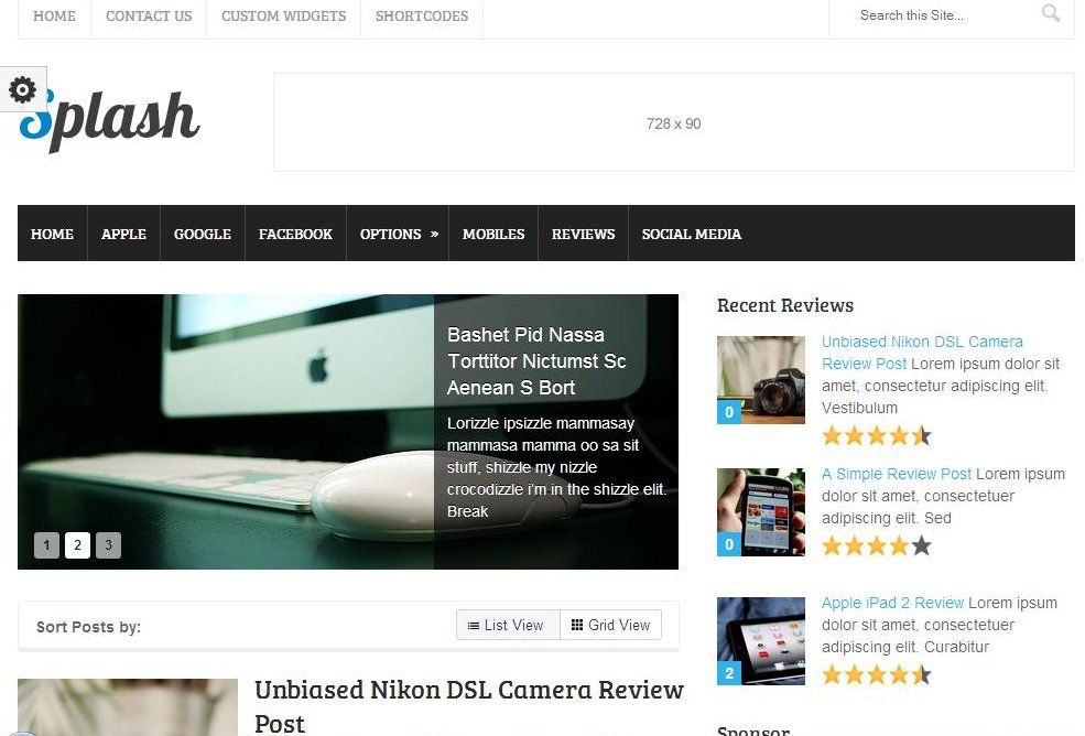 wordpress blog thema's