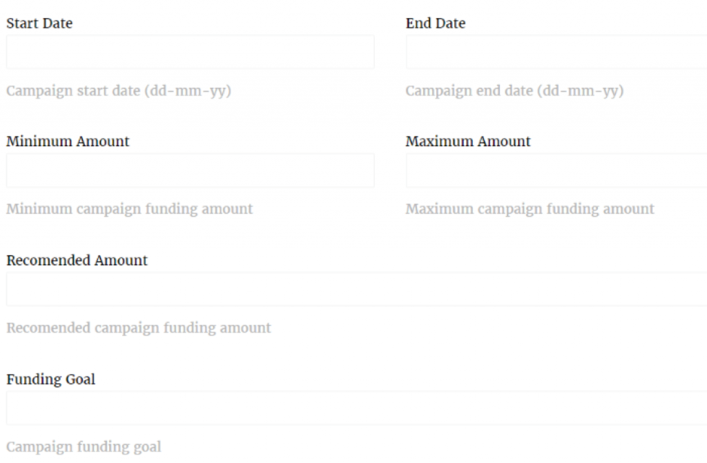 wp crowdfunding plugin