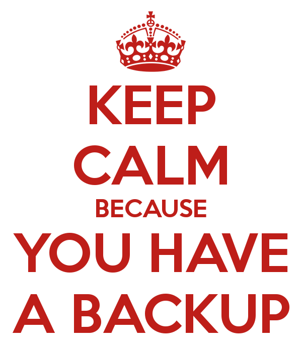 Backup is essentieel