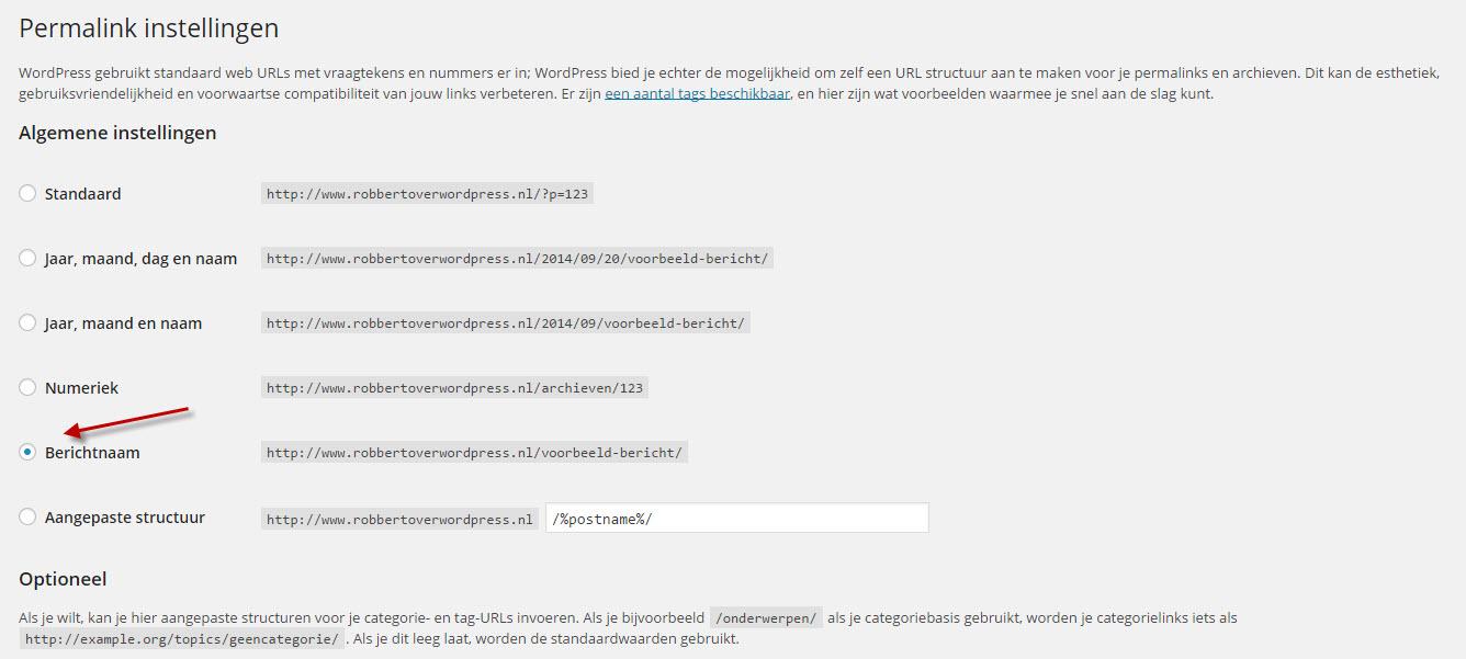 wordpress-permalinks-instellen-hostnet