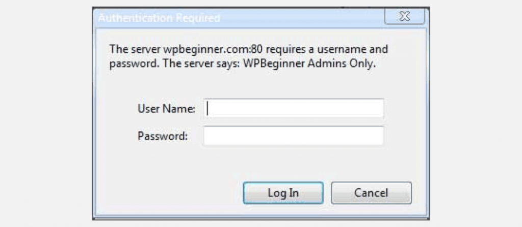 wordpress admin directory