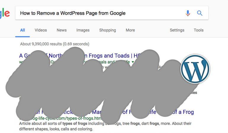 webpagina voor Google verbergen