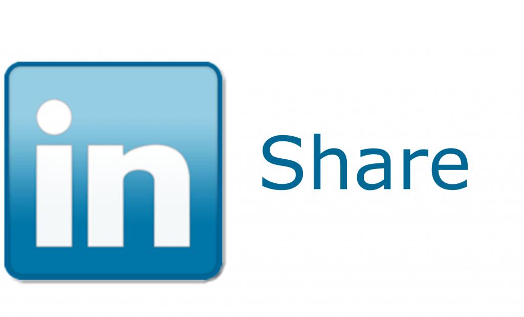 officiele linkedin share knop