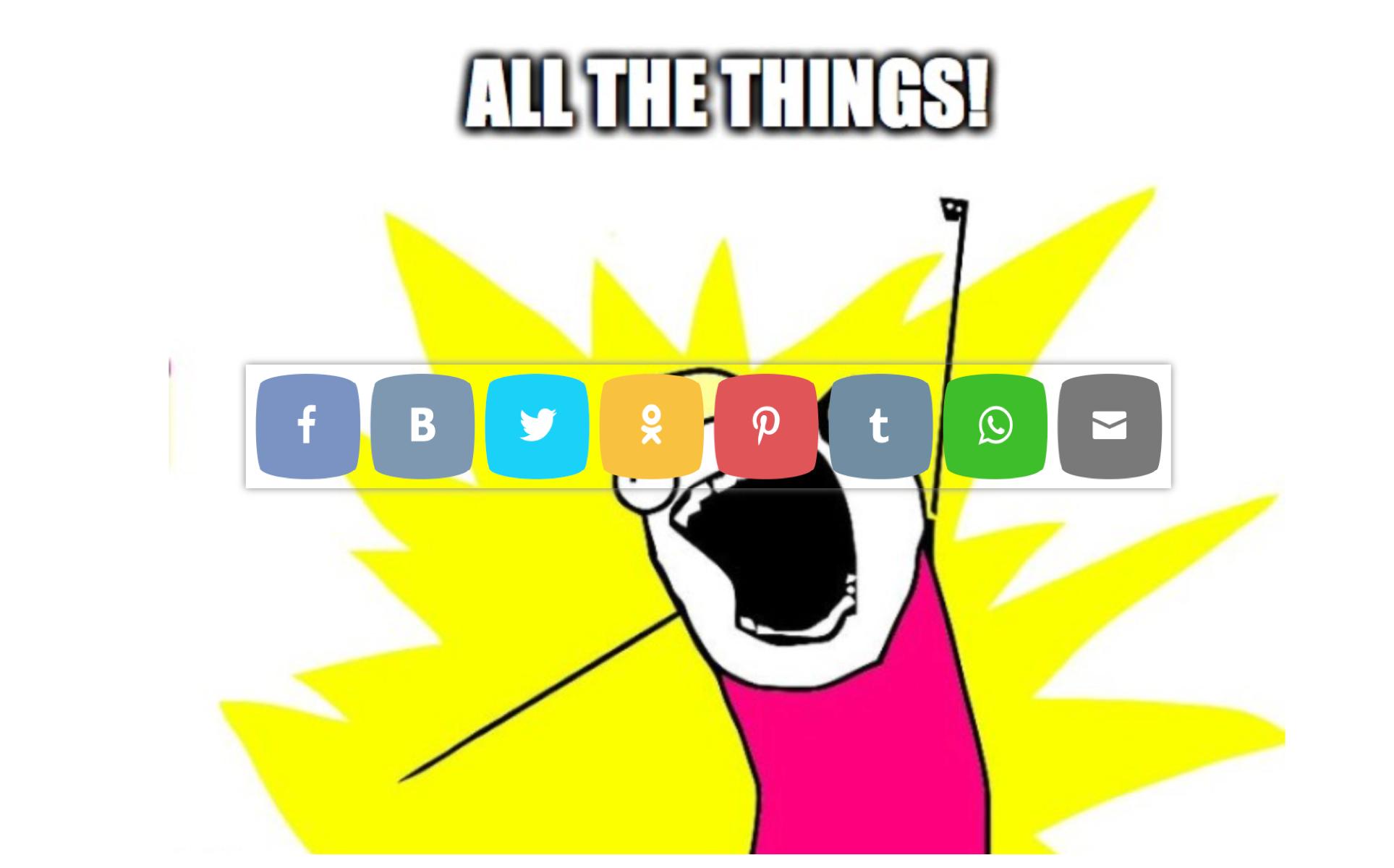 social media knoppen