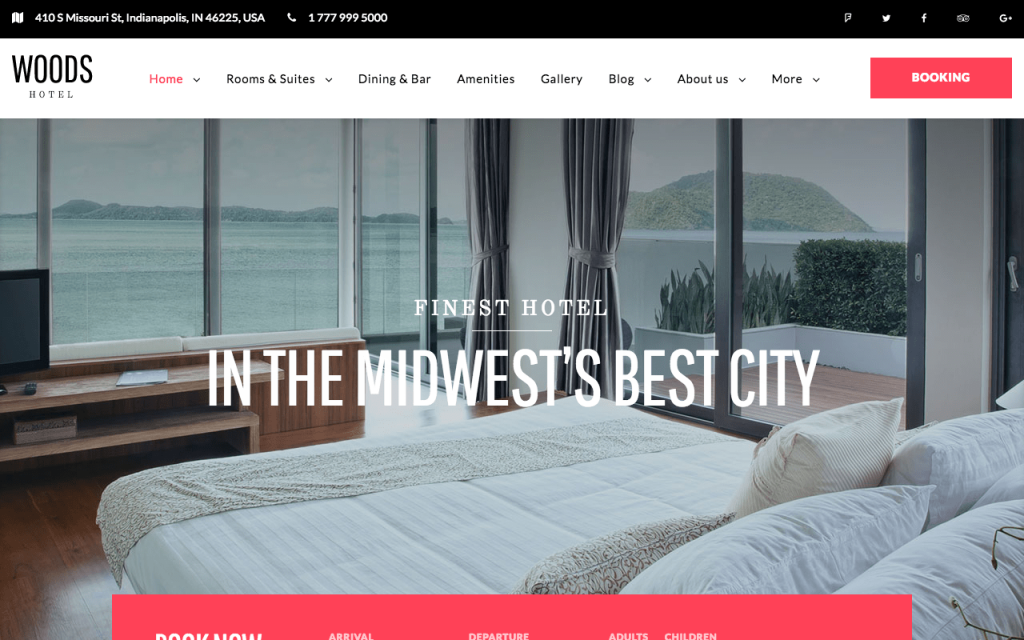 WordPress thema's voor hotels