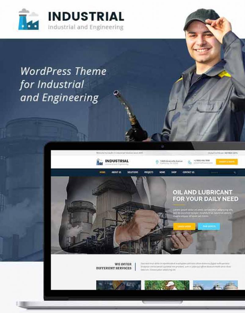 industriele wordpress thema's
