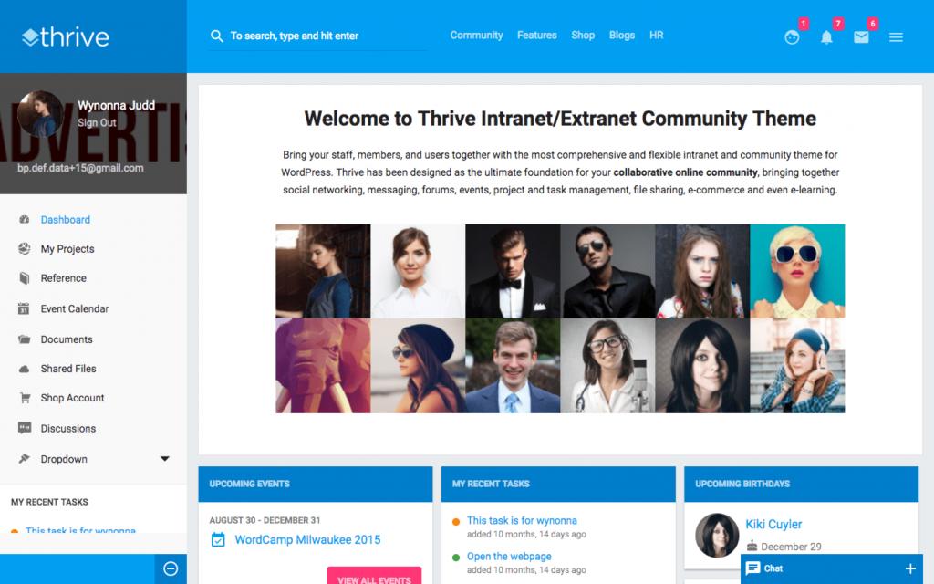 intranet thema's