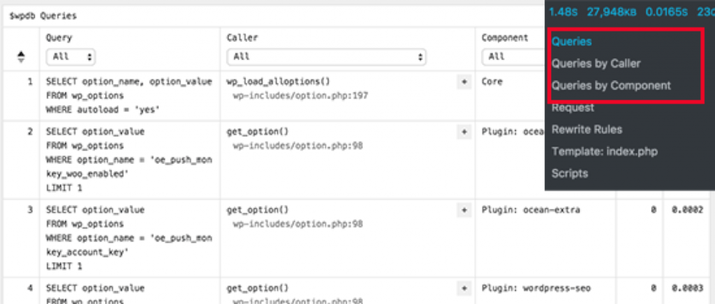 wordpress query monitor