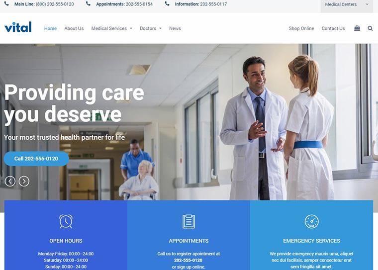 WordPress thema's voor de zorg