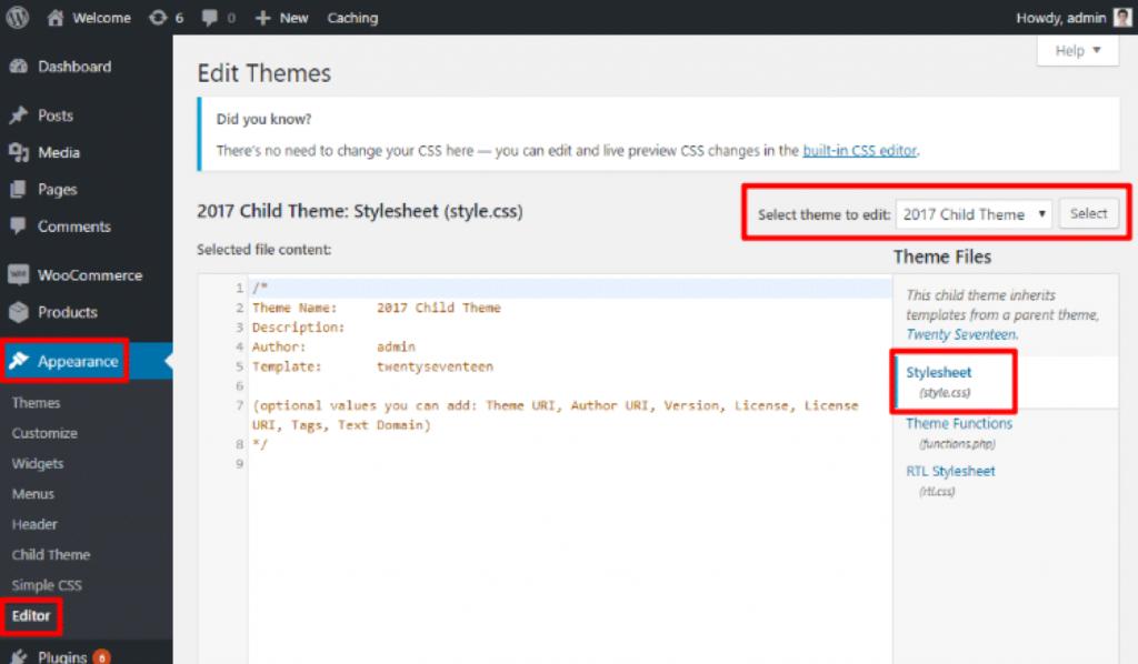 custom CSS toevoegen