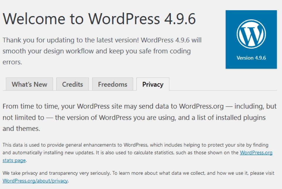 wordpress 4.9.6 beta 1