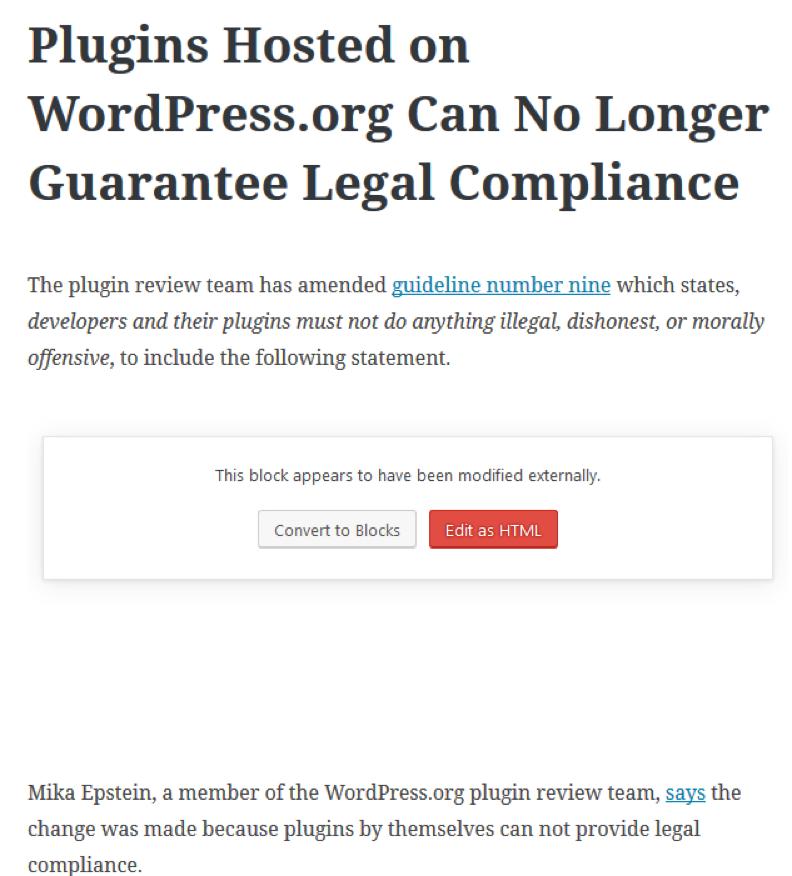 WordPress voor iOS en Gutenberg
