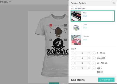 lumise product designer