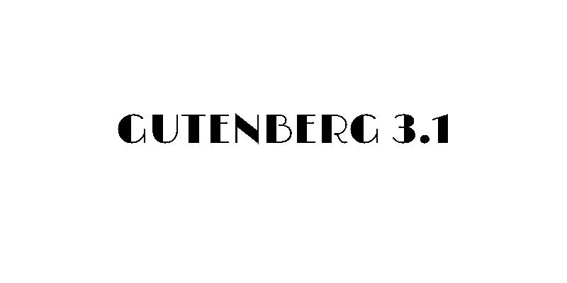gutenberg 3.1