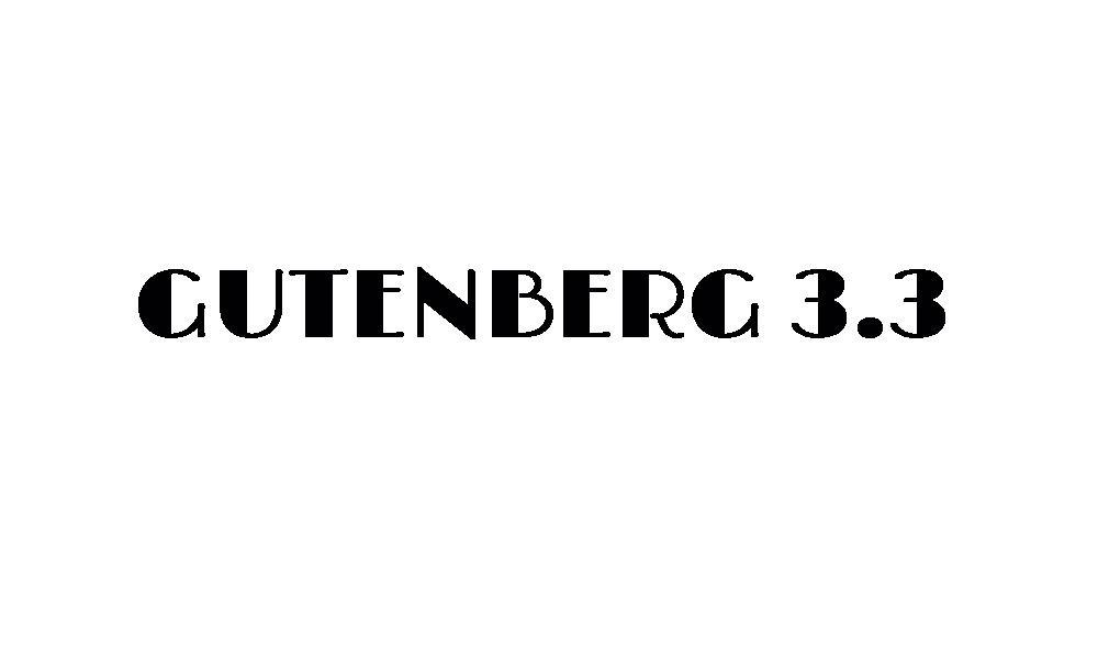 gutenberg 3.3