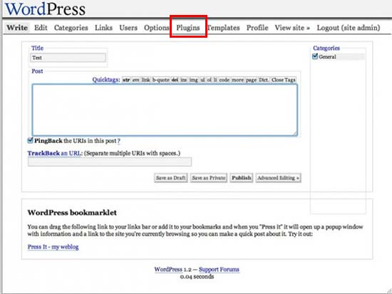 evolutie van de WordPress User Interface