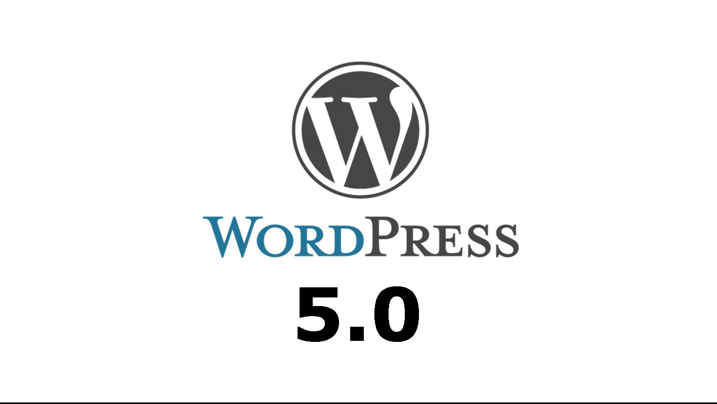 officiële release van WordPress. 5.0