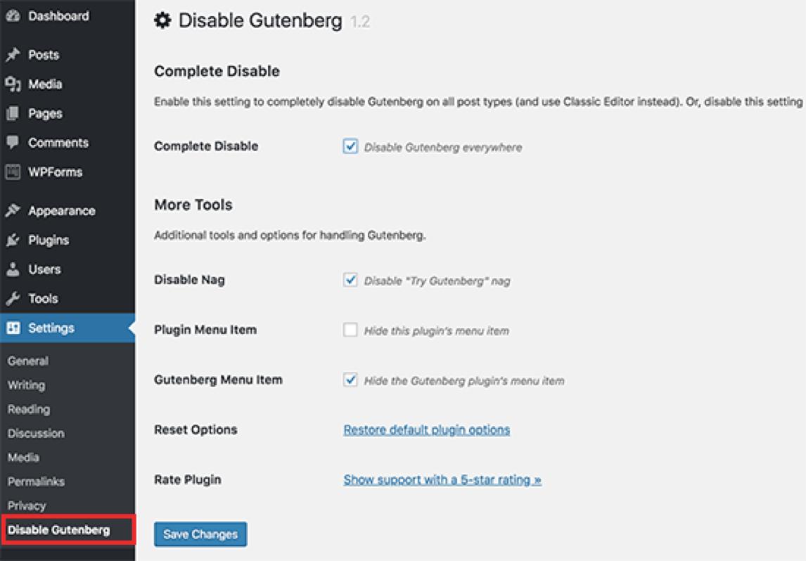 Classic Editor plugin gebruiken in plaats van Gutenberg