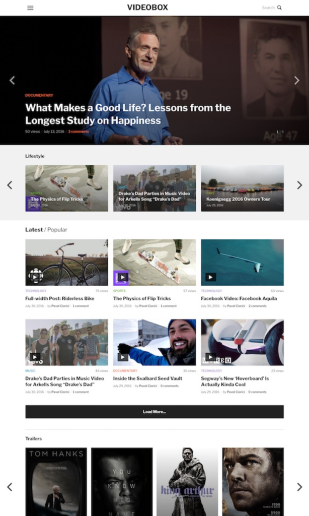 video thema's voor WordPress