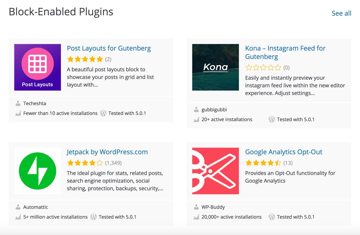 block-enabled plugins