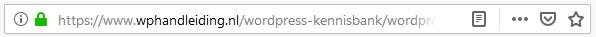 Herken https wordpress in browser