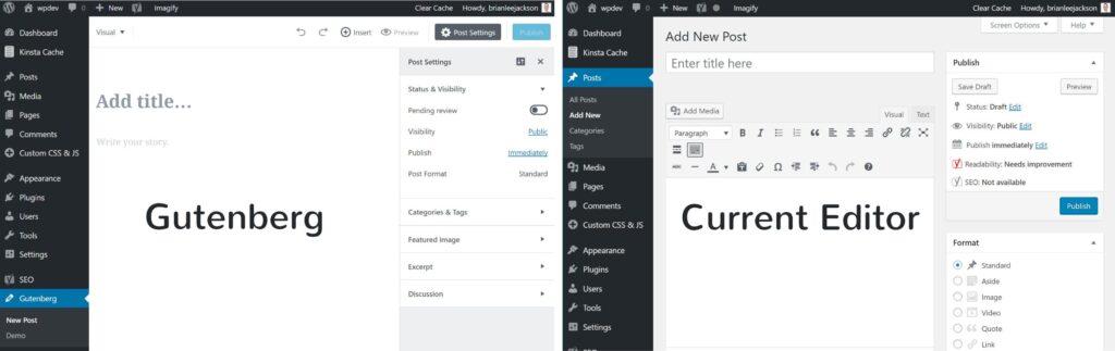 Gutenberg editor voor wordpress sites