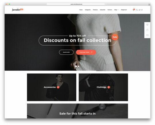Woocommerce theme Jevelin download