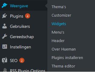 Wordpress sidebar instellen