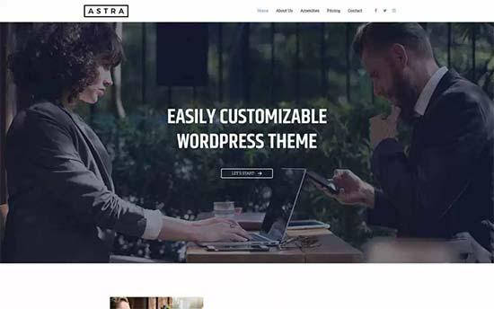 Theme Astra website