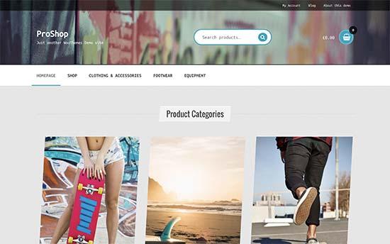 Woocommerce webshop proshop