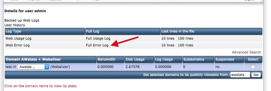 http error direct admin