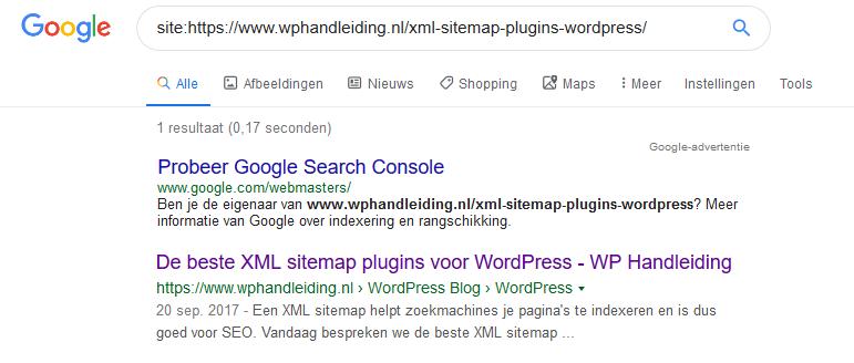 Indexering door google