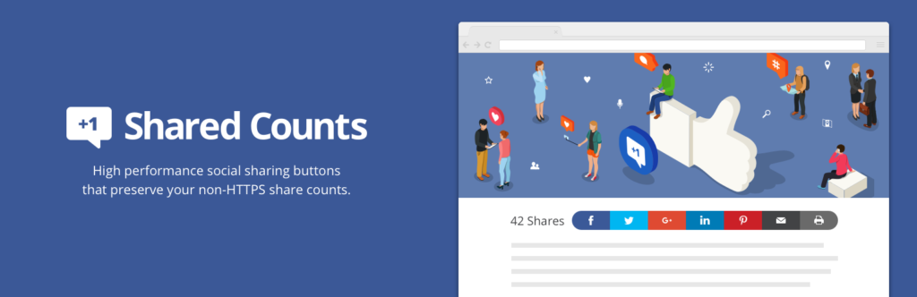 shared counts for social media