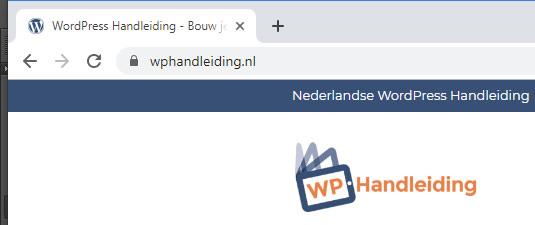favicon van wphandleiding.nl
