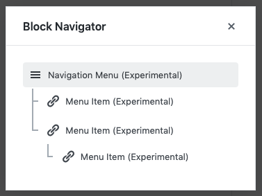 block navigatie