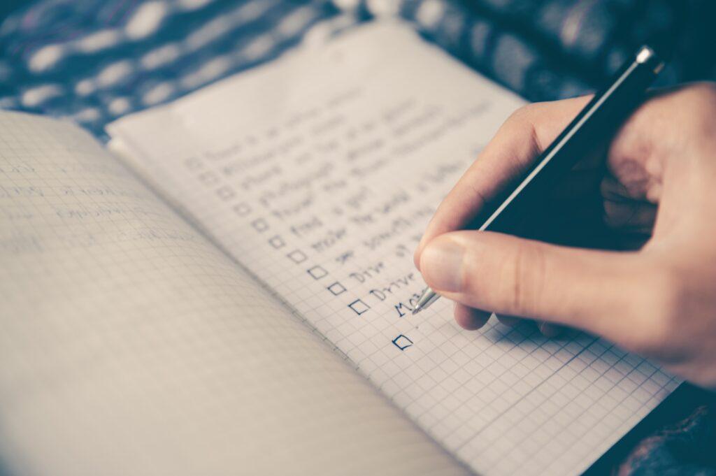 publication checklist