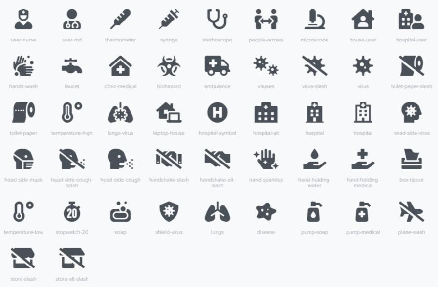 COVID-19 awareness iconen