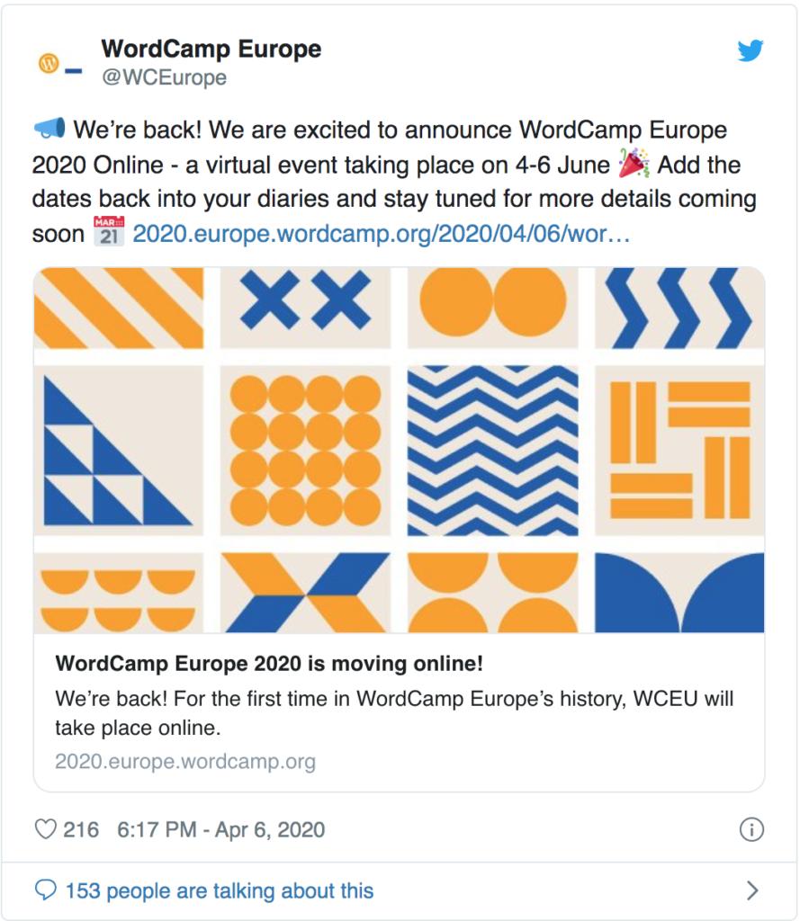 wordcamp europe 2020 online