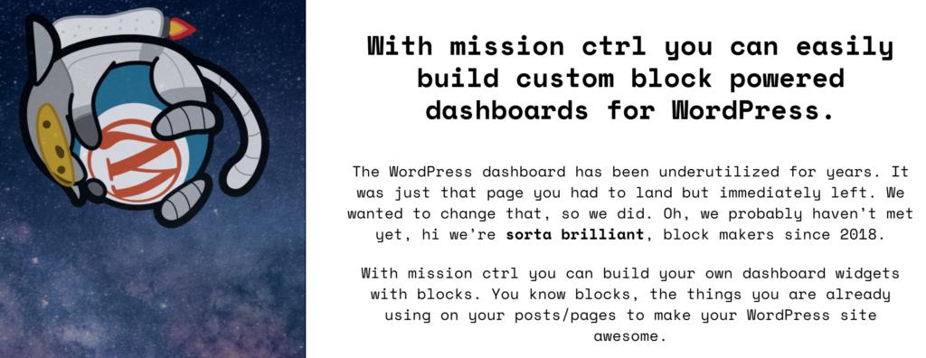 Mission Ctrl plugin