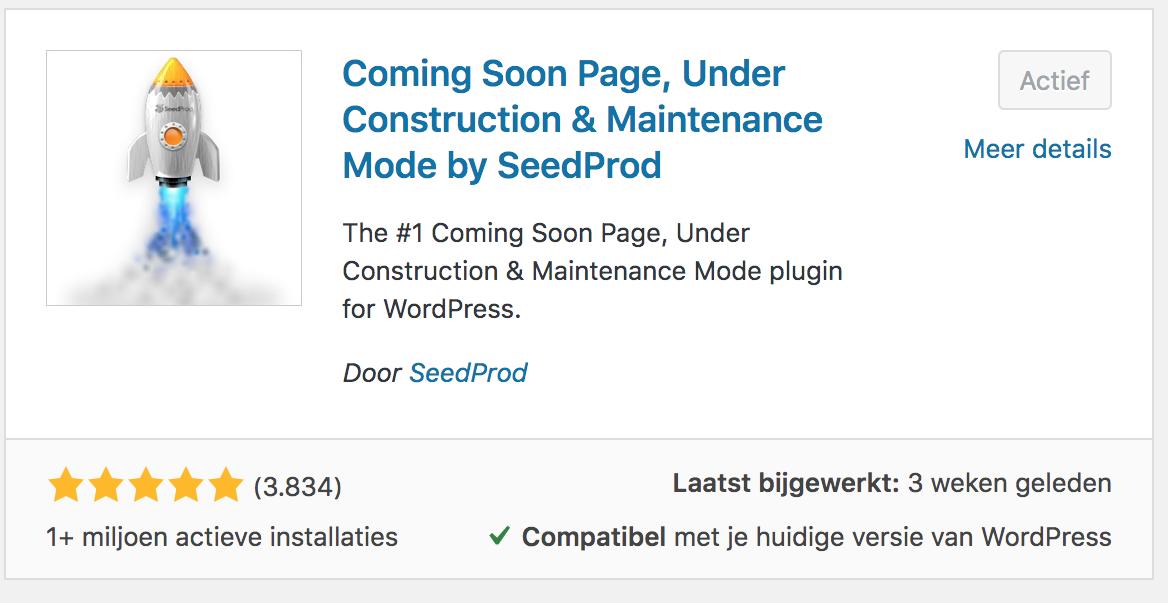 coming soon pagina